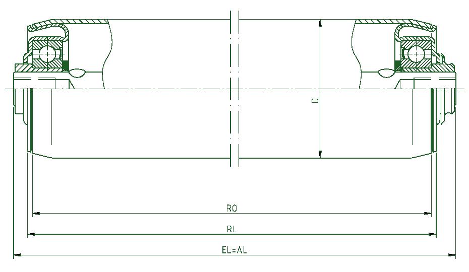 ikke -drevet transportrulle type 250 - FMG Förderelemente