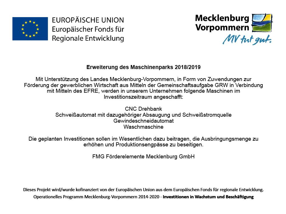 Förderung Erweiterung Maschinenpark Landesförderinstitut